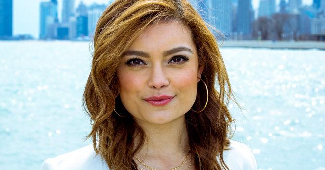 Diana Gutierrez, morning reporter for WCIU-The Jam.